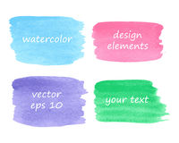 Collection of watercolor stains Stock Photography