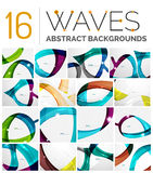 Collection of wave abstract backgrounds Royalty Free Stock Photography