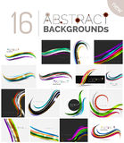 Collection of wave abstract backgrounds Royalty Free Stock Image