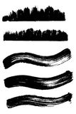 Collection Of wave Ink Elements. Vector illustration Royalty Free Stock Image