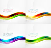 Collection of wave layouts Royalty Free Stock Photography