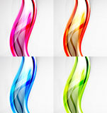 Collection of wave layouts Royalty Free Stock Images