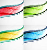 Collection of wave layouts Royalty Free Stock Photos