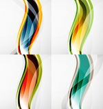 Collection of wave layouts Stock Photography