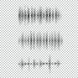 Collection of waveform. Vector illustration for club, radio, party, concerts or the audio technology advertising. Background. Easy to use Royalty Free Stock Photos