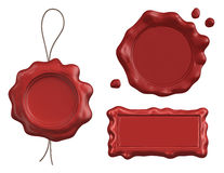Collection of wax seals isolated Stock Image