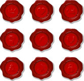 Collection of wax seals. Collection of vector wax seal on a white background. eps 10 Royalty Free Illustration