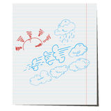 Collection of weather conditions. For the design of weather forecast Royalty Free Stock Image