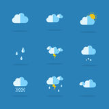 Collection of weather set icon Royalty Free Stock Photo