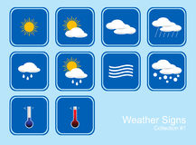 Collection of Weather Signs Royalty Free Stock Photos