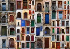 Collection of weathered doors Stock Photo