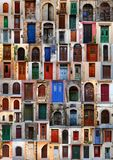 Collection of weathered doors Stock Image