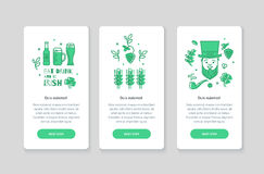 Collection of web banners for St. Patrick's Day. Stock Image