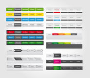 Web bar menu with button for website stock illustration