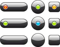 Collection of web buttons. Royalty Free Stock Images