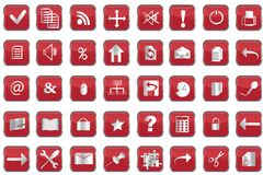 Collection of  web buttons Stock Images