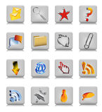 Collection of web buttons Royalty Free Stock Photo