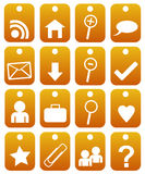 Collection of web buttons Stock Image