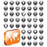 Collection of Web Buttons -EPS Vector- Royalty Free Stock Photos