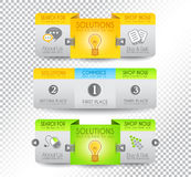 Collection of web elements - Various templates Stock Image