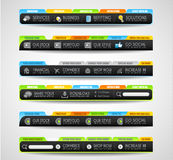 Collection of web elements - Various templates Stock Images