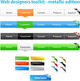 A collection of web graphics. And buttons Royalty Free Stock Images