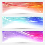 Collection web headers footers connection Royalty Free Stock Photography