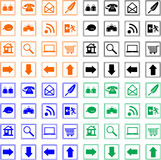 Collection web icon. Button four color Stock Images