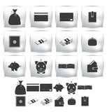 Collection web icon. Set pictogram. Of finance Royalty Free Stock Image