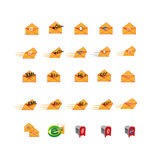 Collection of Web icon symbol Royalty Free Stock Image
