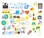 Collection of web  icons Royalty Free Stock Images