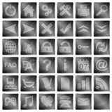 Collection of web icons and buttons Royalty Free Stock Photos