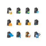 Collection Web server icon symbol Stock Image
