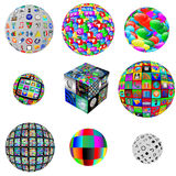 Collection of web spheres Royalty Free Stock Photos