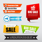 045 Collection of web tag banner for promotion sale discount vec. Collection of web tag banner for promotion sale and discount vector illustration eps10 Stock Photo