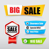 047 Collection of web tag banner for promotion sale discount vec Stock Photo