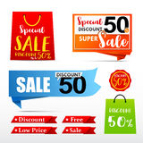 050 Collection of web tag banner for promotion sale discount vec. Collection of web tag banner for promotion sale discount vector illustration eps10 Royalty Free Stock Photography