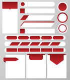 Collection of website elements: text box, button, banner, text bar, navigation bar, label. Vector illustration Royalty Free Stock Photo