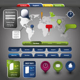 Collection Of Website Elements Stock Image