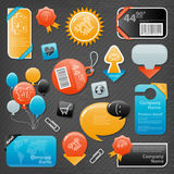 Collection of website elements Royalty Free Stock Image