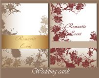 Collection of wedding cards in pastel colors Royalty Free Stock Photos