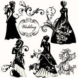 Collection of wedding design elements Stock Image