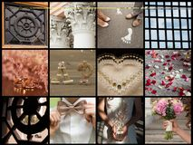Collection of wedding details Royalty Free Stock Photography