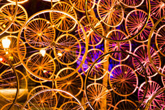 A collection of wheels colorfull Stock Images