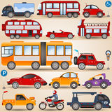 Collection of wheels Royalty Free Stock Image