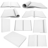 Collection of white books and magazines Royalty Free Stock Photography