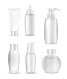 Collection of White  Bottle Template for Ads or Magazine Backgro Royalty Free Stock Image