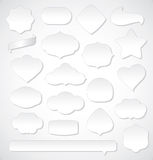 Collection of white labels Royalty Free Stock Photography