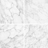 Collection of white marble texture and background. Royalty Free Stock Photos