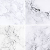 Collection of white marble texture and background. Stock Image